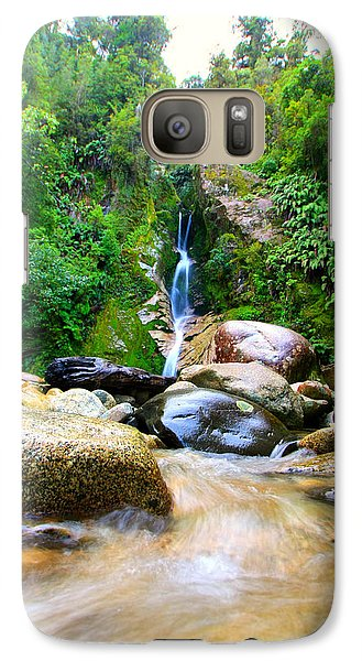 Galaxy Case featuring the photograph Rainforest Stream New Zealand by Amanda Stadther