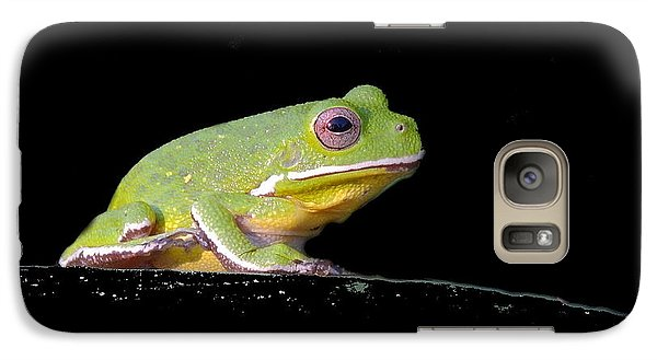 Galaxy Case featuring the photograph Rainfrog Portrait by Myrna Bradshaw