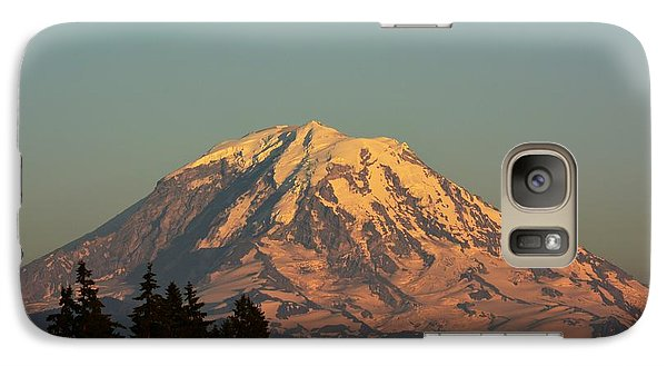 Galaxy Case featuring the photograph Rainier At Dusk by Gayle Swigart