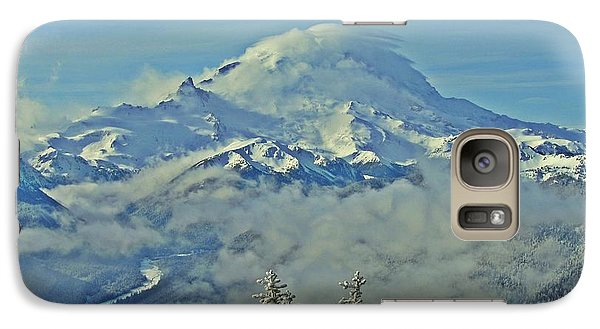 Galaxy Case featuring the photograph Rainier Cloaked In Winter by Jeff Cook