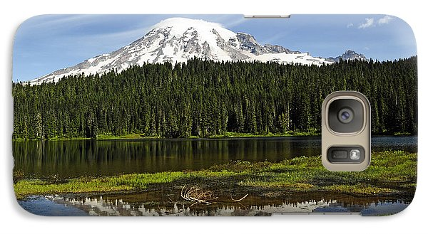 Galaxy Case featuring the photograph Rainier's Reflection by Tikvah's Hope