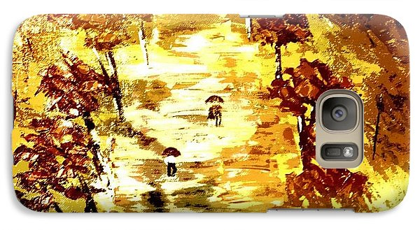 Galaxy Case featuring the painting Rainy Autumn Trail  by Denise Tomasura