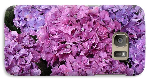 Galaxy Case featuring the photograph Rainy Day Flowers by Ira Shander