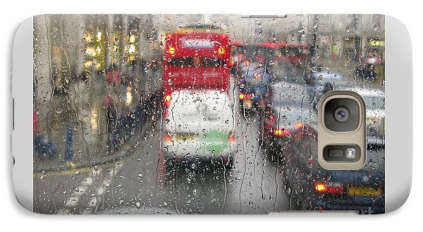 Galaxy Case featuring the photograph Rainy Day London Traffic by Ann Horn
