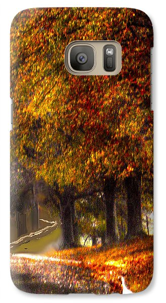 Galaxy Case featuring the photograph Rainy Day Path by Lesa Fine