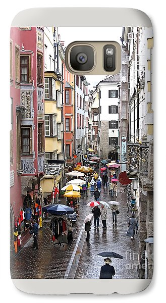 Galaxy Case featuring the photograph Rainy Day Shopping by Ann Horn