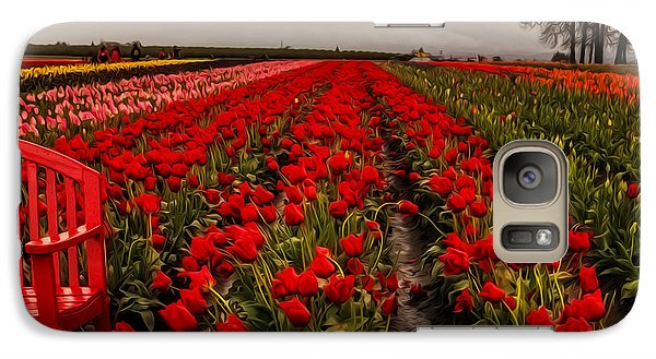 Galaxy Case featuring the photograph Rainy Day Tulips by Nancy Marie Ricketts