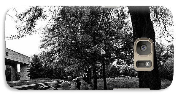 Galaxy Case featuring the photograph Rainy Grand Rapids Gerald Ford Museum by Toni Martsoukos