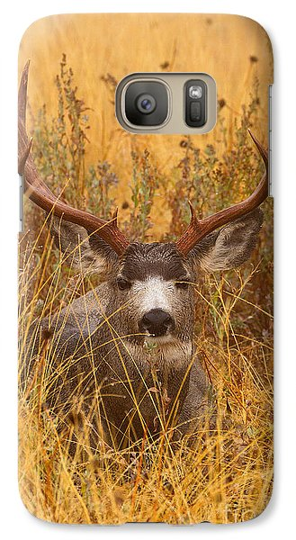 Galaxy Case featuring the photograph Rainy Mountain Buck by Aaron Whittemore