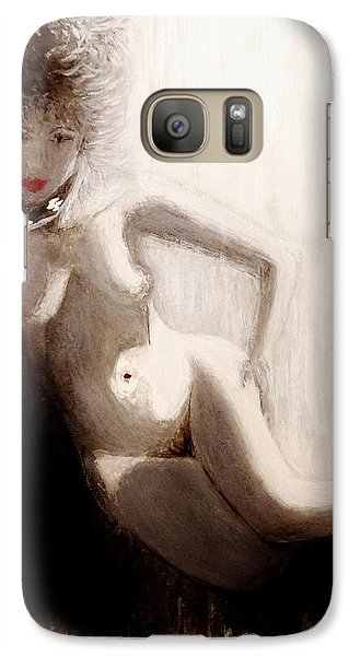 Galaxy Case featuring the painting Rainy Night.. by Cristina Mihailescu
