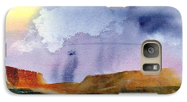 Galaxy Case featuring the painting Rainy Skies by Anne Duke