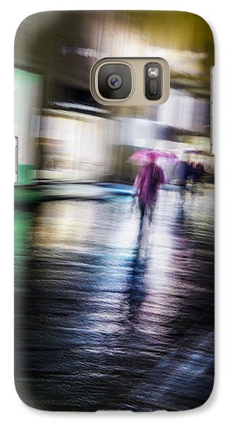 Galaxy S7 Case featuring the photograph Rainy Streets by Alex Lapidus
