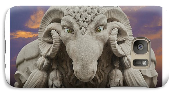 Galaxy Case featuring the digital art Ram A Sees Naturally Stoned Poster by David Davies