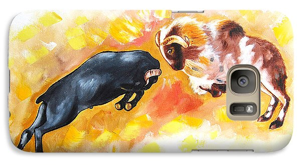 Galaxy Case featuring the painting Ram Fighting... by Ragunath Venkatraman