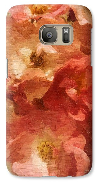 Galaxy Case featuring the digital art Ramblin Rose Memories by Lianne Schneider