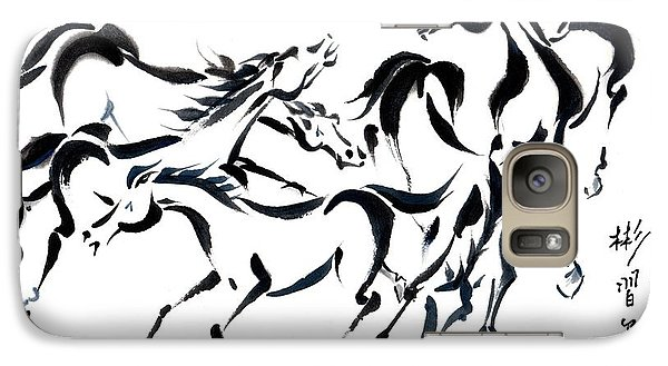 Galaxy Case featuring the painting Rambunctious by Bill Searle