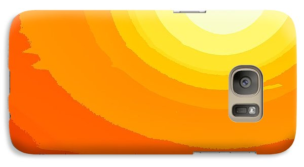 Galaxy Case featuring the photograph Farmer's Sunset by Clarice  Lakota