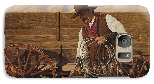 Galaxy Case featuring the painting Ranch Wagon by Ron Crabb