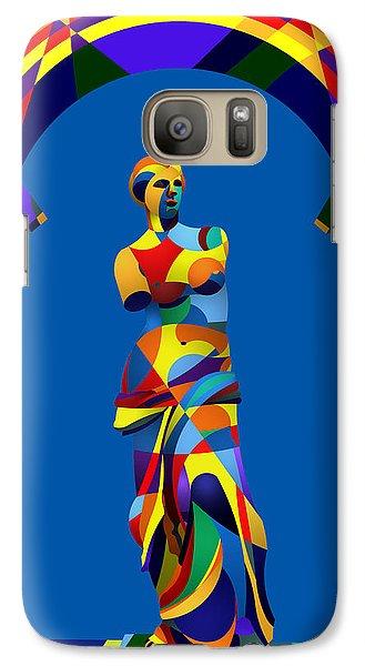 Galaxy Case featuring the digital art Randy's Venus Blue by Randall Henrie