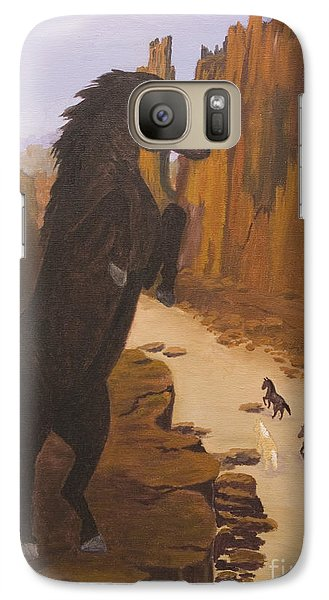 Galaxy Case featuring the painting Range War by J Cheyenne Howell
