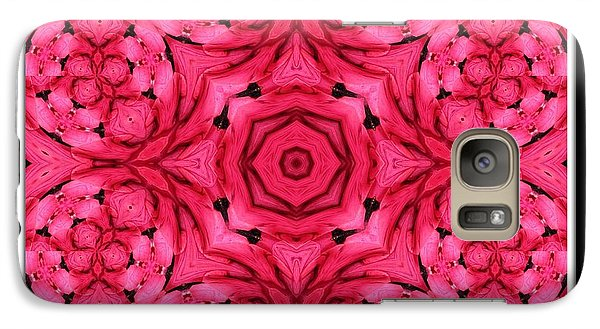 Galaxy Case featuring the photograph Ranunculus Flower Warp by Rose Santuci-Sofranko