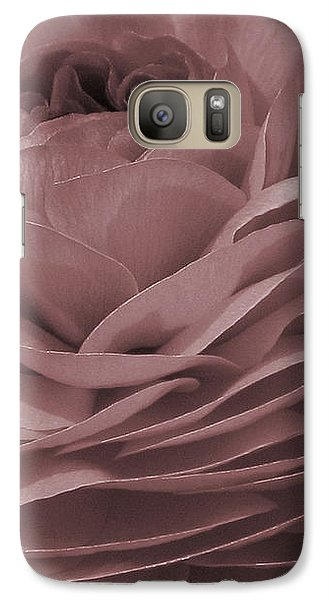 Galaxy Case featuring the photograph Ranunculus Red by Jean OKeeffe Macro Abundance Art