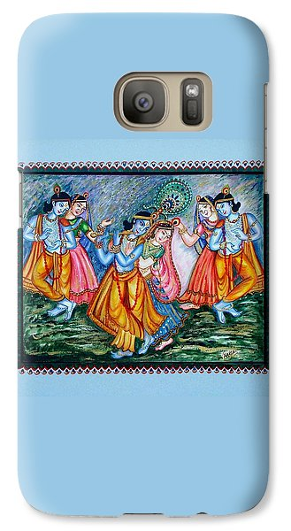 Galaxy Case featuring the painting Ras Leela by Harsh Malik