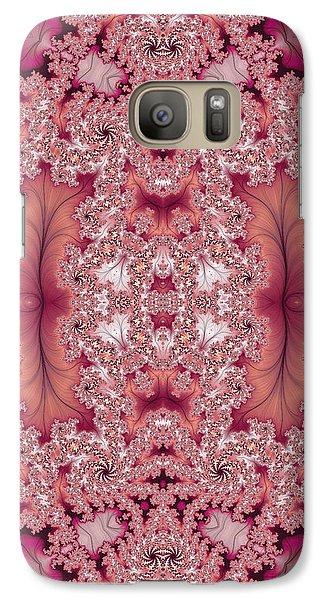 Galaxy Case featuring the digital art Raspberry Dreams by Lea Wiggins