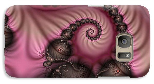 Galaxy Case featuring the digital art Raspberry Ice Cream For Breakfast by Gabiw Art