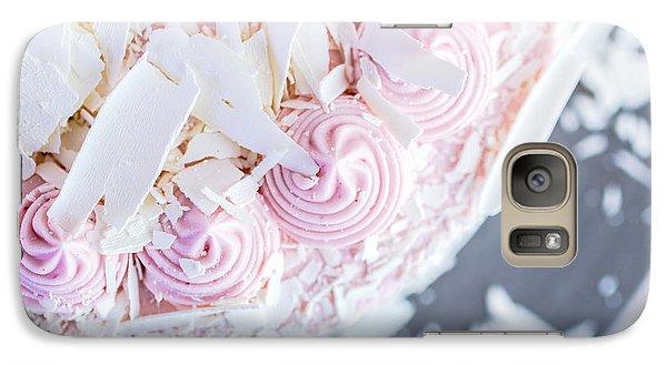 Raspberry Galaxy S7 Case - Raspberry White Chocolate Cake by Edward Fielding