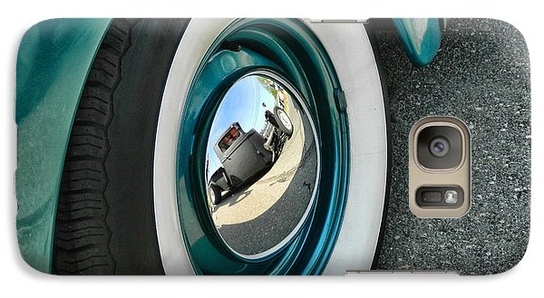 Galaxy Case featuring the photograph Rat Rod Reflection by Victor Montgomery