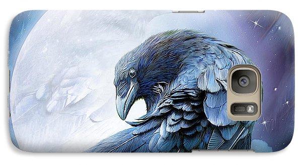 Raven Moon Galaxy S7 Case by Carol Cavalaris