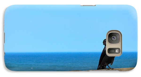 Galaxy Case featuring the photograph Raven Watching by Peta Thames