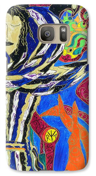 Galaxy Case featuring the painting Raven Woman by Clarity Artists