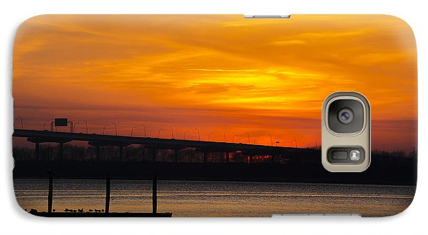 Galaxy Case featuring the photograph Orange Blaze by Dale Powell