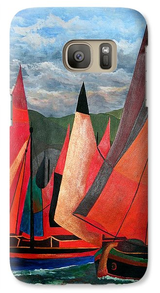 Galaxy Case featuring the painting Ravenna Regatta by Tracey Harrington-Simpson