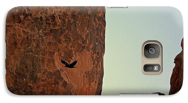 Galaxy Case featuring the photograph Raven's Flight by Kate Purdy