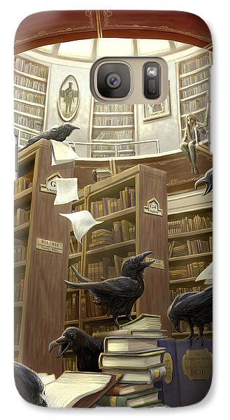 Ravens In The Library Galaxy S7 Case by Rob Carlos