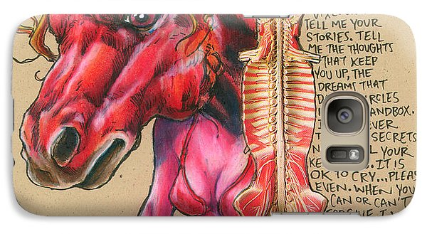 Galaxy Case featuring the drawing Raw by John Ashton Golden