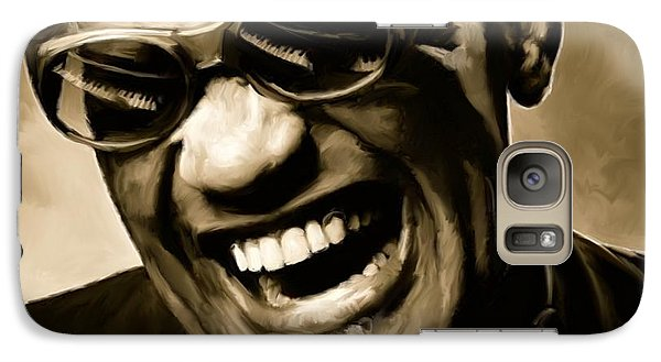 Ray Charles - Portrait Galaxy S7 Case by Paul Tagliamonte