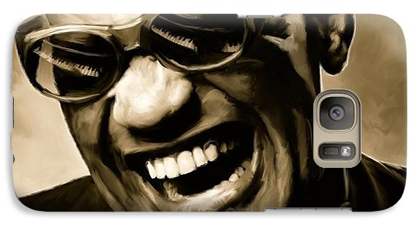 Rhythm And Blues Galaxy S7 Case - Ray Charles - Portrait by Paul Tagliamonte