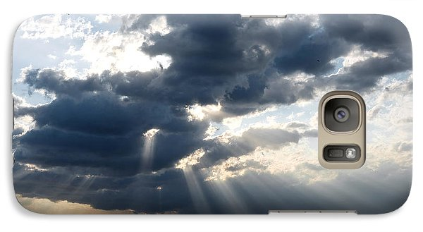Galaxy Case featuring the photograph Rays And Clouds by Antonio Scarpi