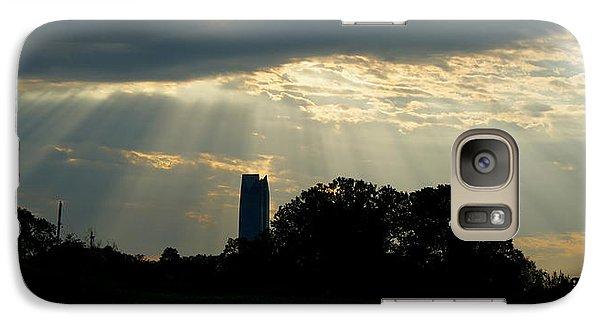 Galaxy Case featuring the photograph Rays Of Hope In Oklahoma by Roseann Errigo