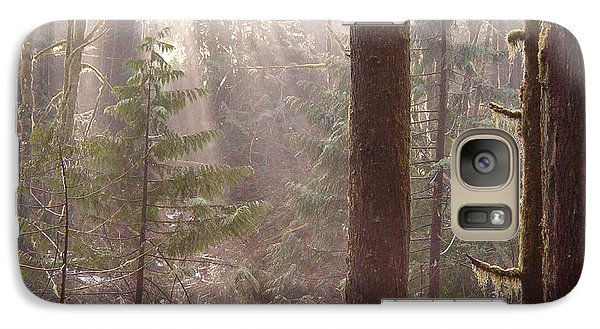 Galaxy Case featuring the photograph Rays Of Light In Forest by Myrna Walsh