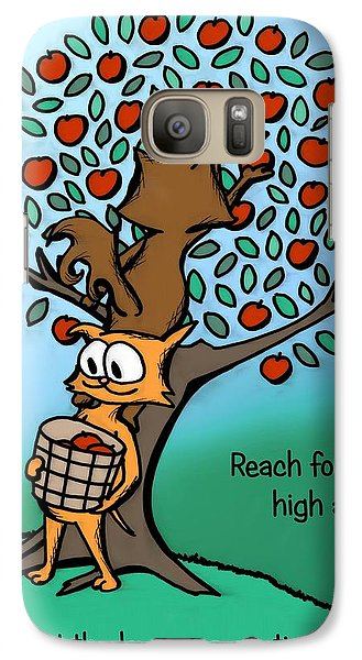 Galaxy Case featuring the drawing Reach For The High Apples by Pet Serrano