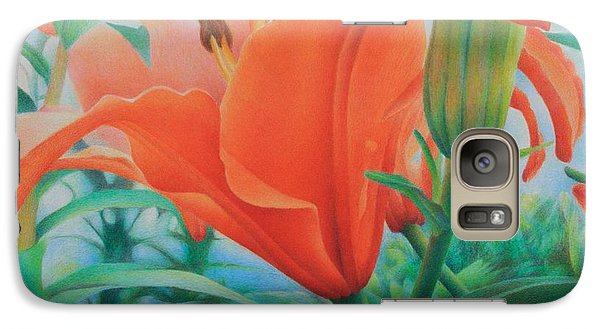 Galaxy Case featuring the painting Reach For The Skies by Pamela Clements