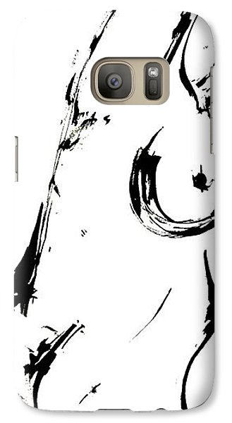 Galaxy Case featuring the drawing Reach by Helen Syron