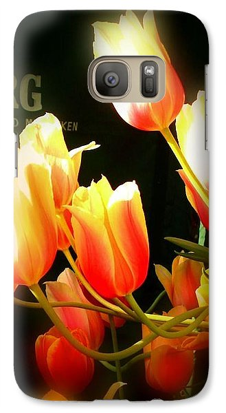 Galaxy Case featuring the photograph Reaching For The Sun by Peggy Stokes