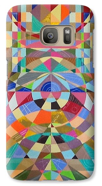 Galaxy Case featuring the painting Reaching  by Hang Ho