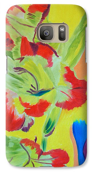 Galaxy Case featuring the painting Reaching Up by Meryl Goudey